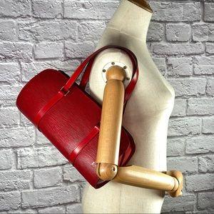 Authentic Louis Vuitton Epi Soufflot Satchel